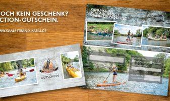 Gutschein für Kanu-, Kajak- und Schlauchboottouren von Saalestrand Kanu